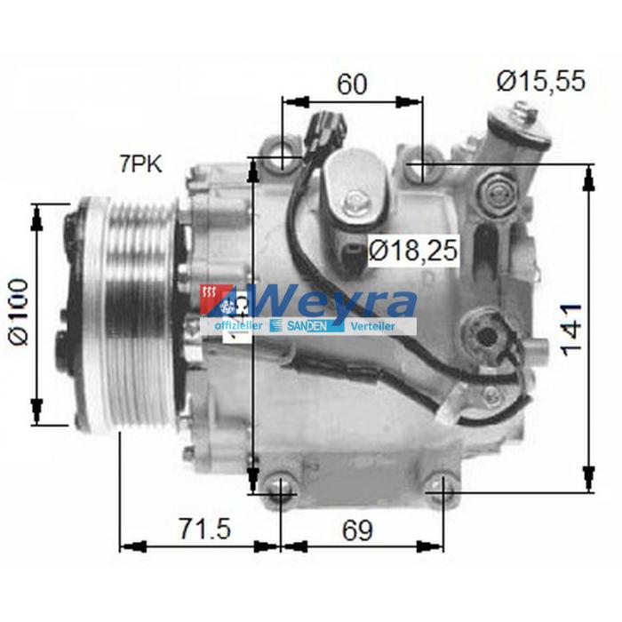 Klimakompressor TRSE07 3432AE